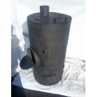 Печь для бани Круглая Сталь 8мм бак 75 литров