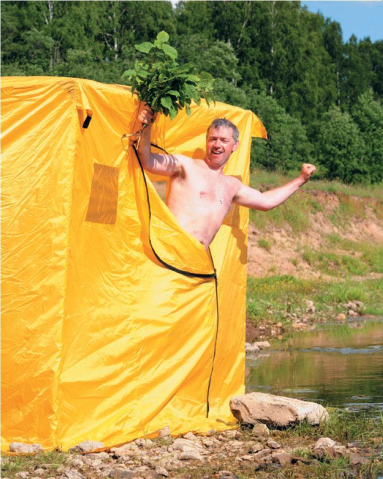 Как сделать баню в походных 89